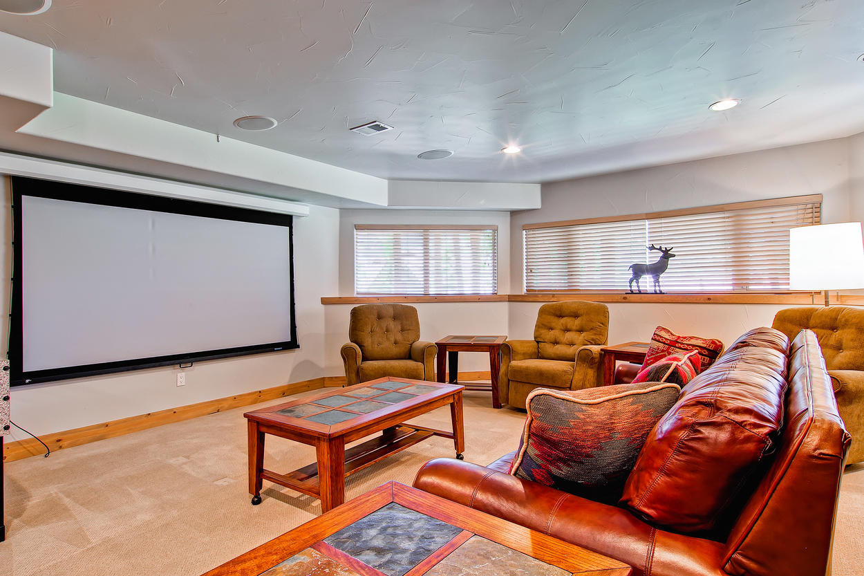 Projector and screen.