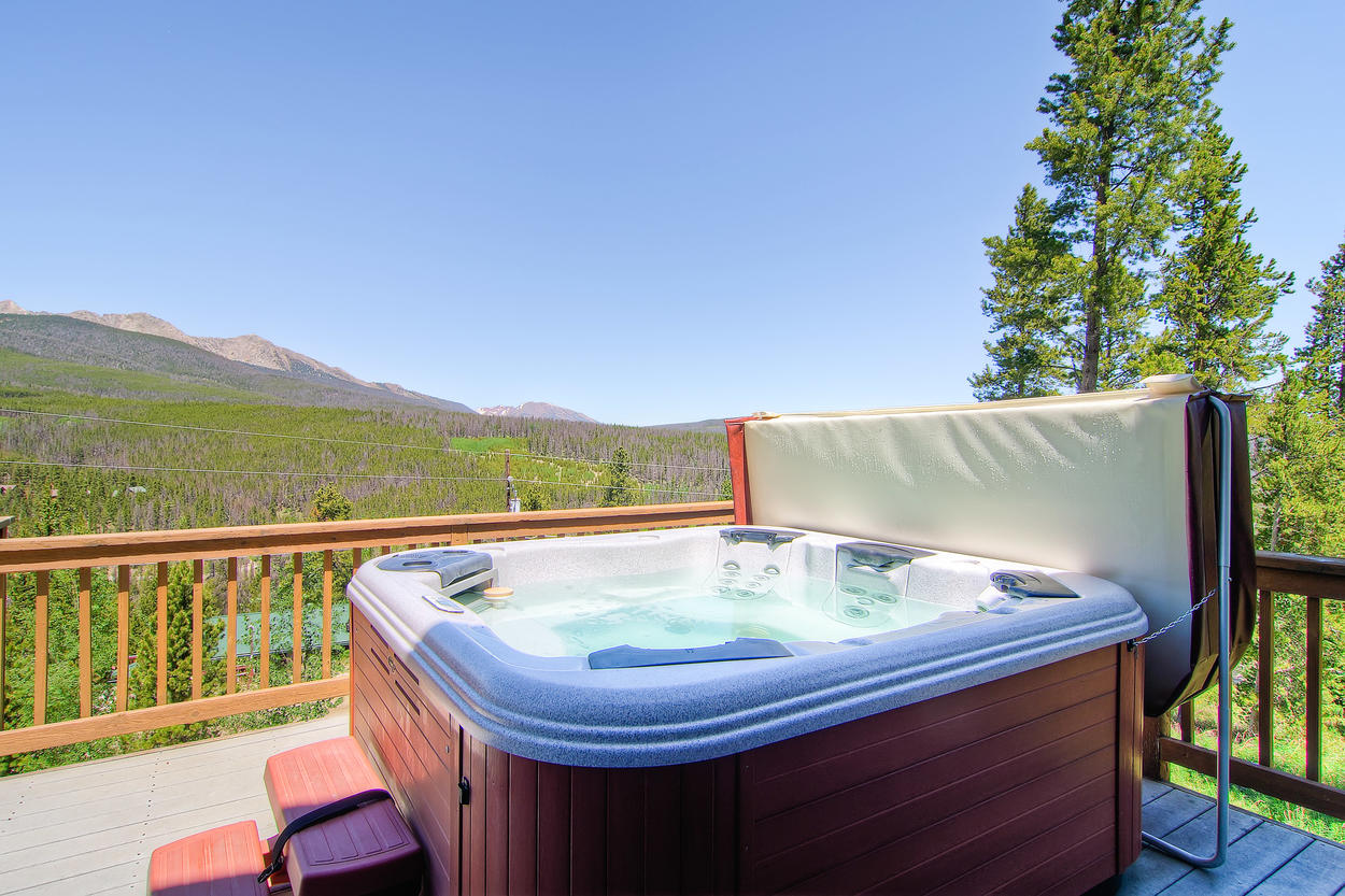 The 6-person hot tub has enough jets for twice that many. Prepare to be churned like butter.