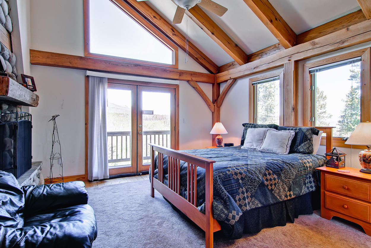 The upstairs Guest Bedroom 3 has a king-size bed, nice views, and shared Jack-and-Jill bath.