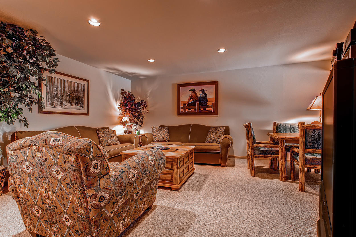 Another view of the downstairs entertainment room
