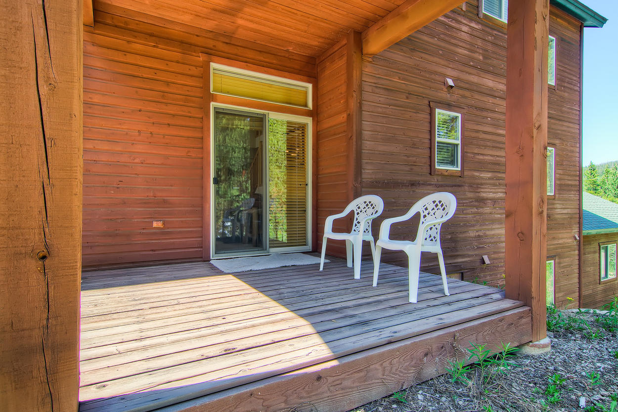 Get up close and personal with nature on the back deck.