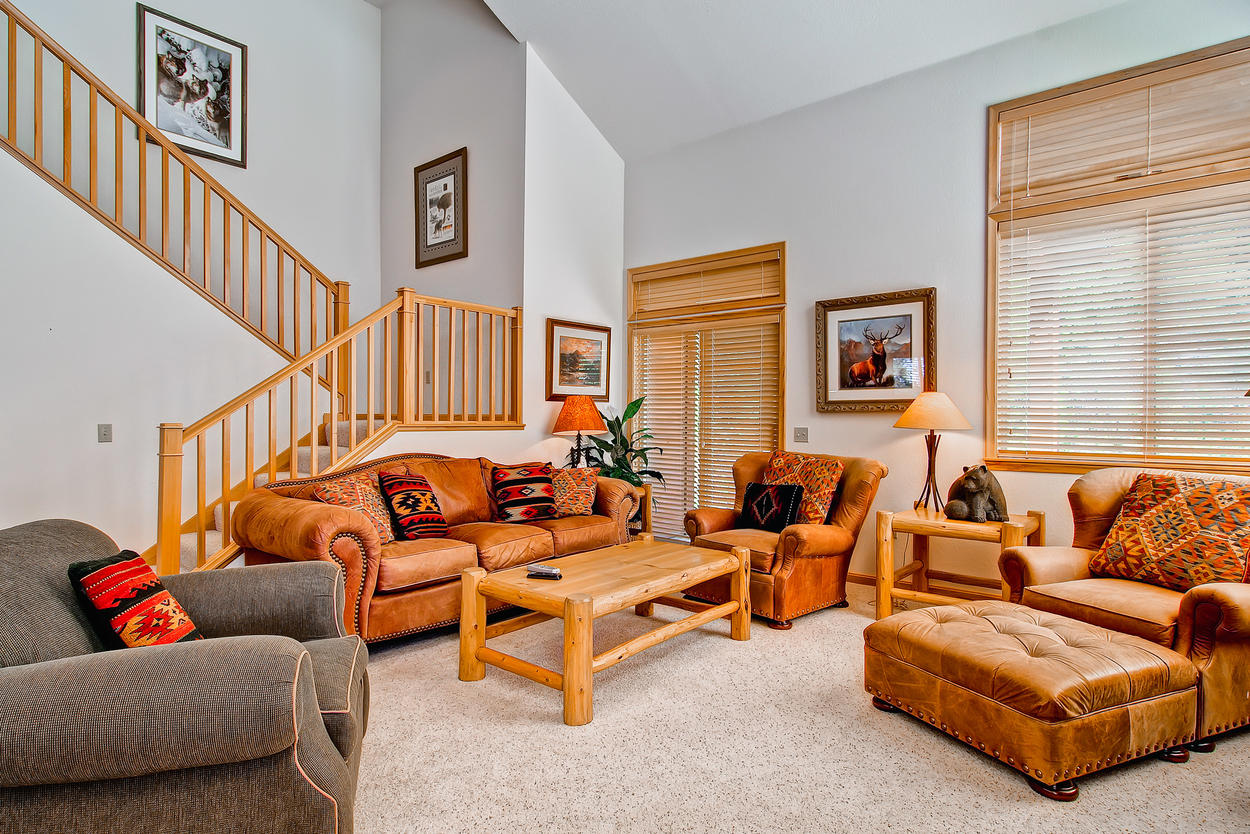 The rustic interior is comfortable and there's plenty of seating for everyone in your group.
