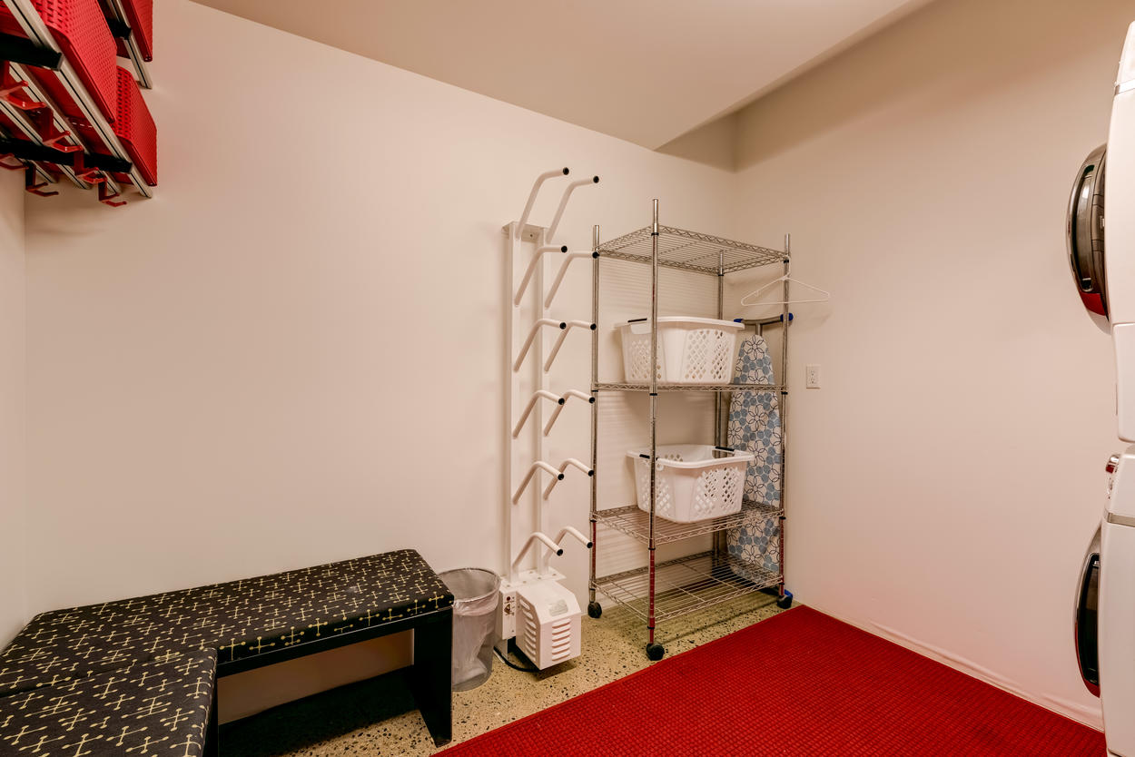 Stay organized throughout the trip in the main level gear room, where there are boot dryers, a washer and dryer, and storage space for all your outdoor equipment.