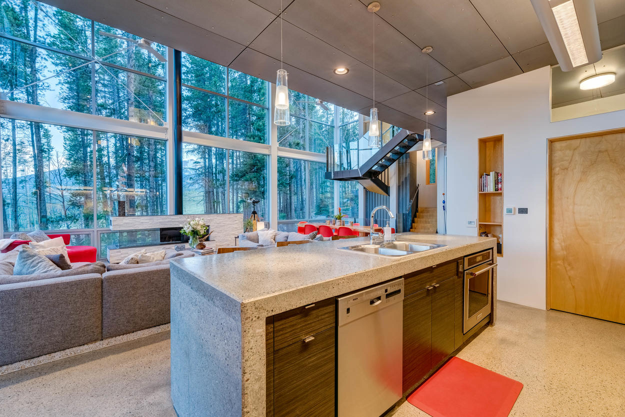 The open design means there are never too many cooks in the kitchen, and preparing a meal can be a fun family event where everyone is included.