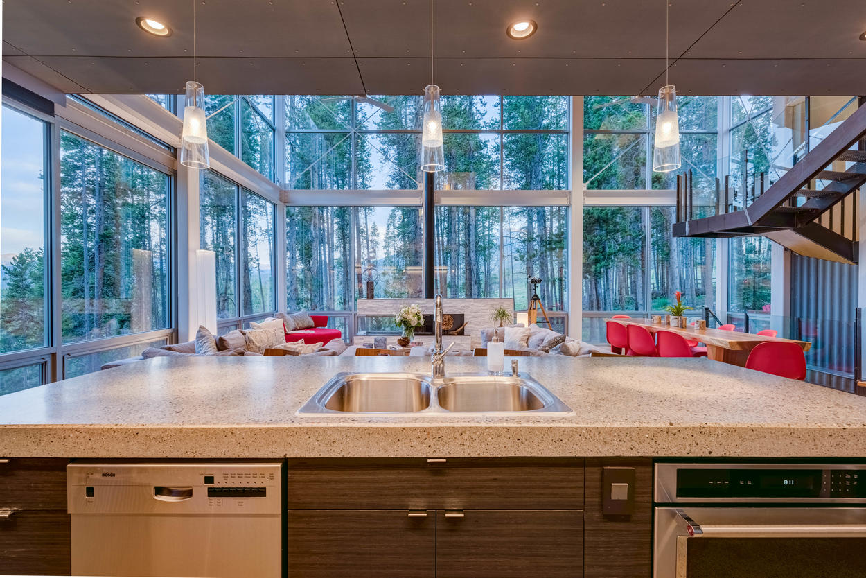 The view from the kitchen island can be quite mesmerizing.