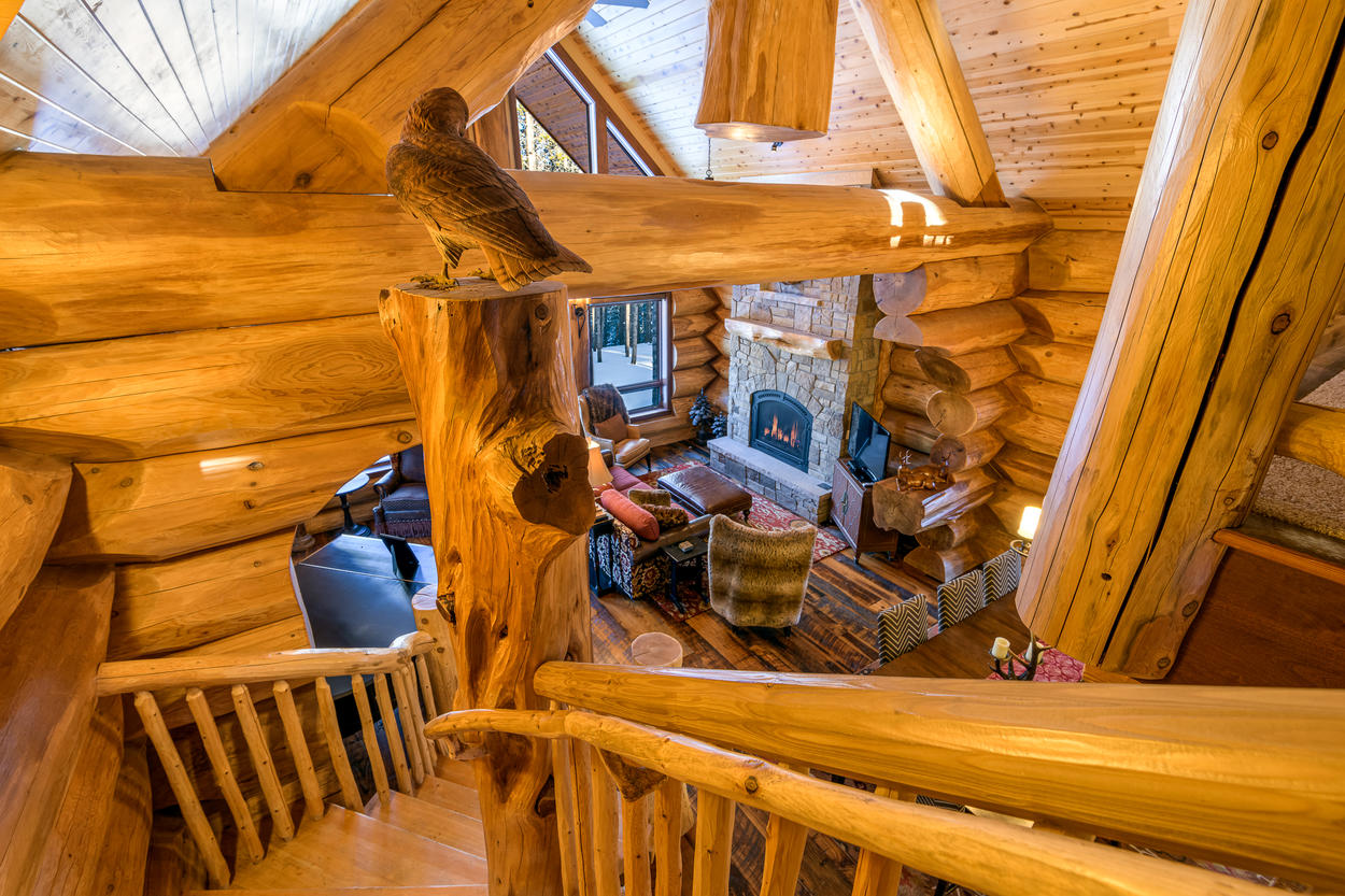 Detailed woodwork and craftsmanship can be found throughout the home