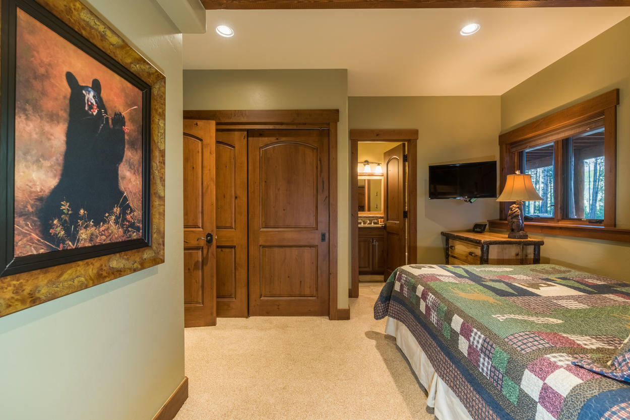 The lower level fourth bedroom also has its own attached ensuite bathroom.