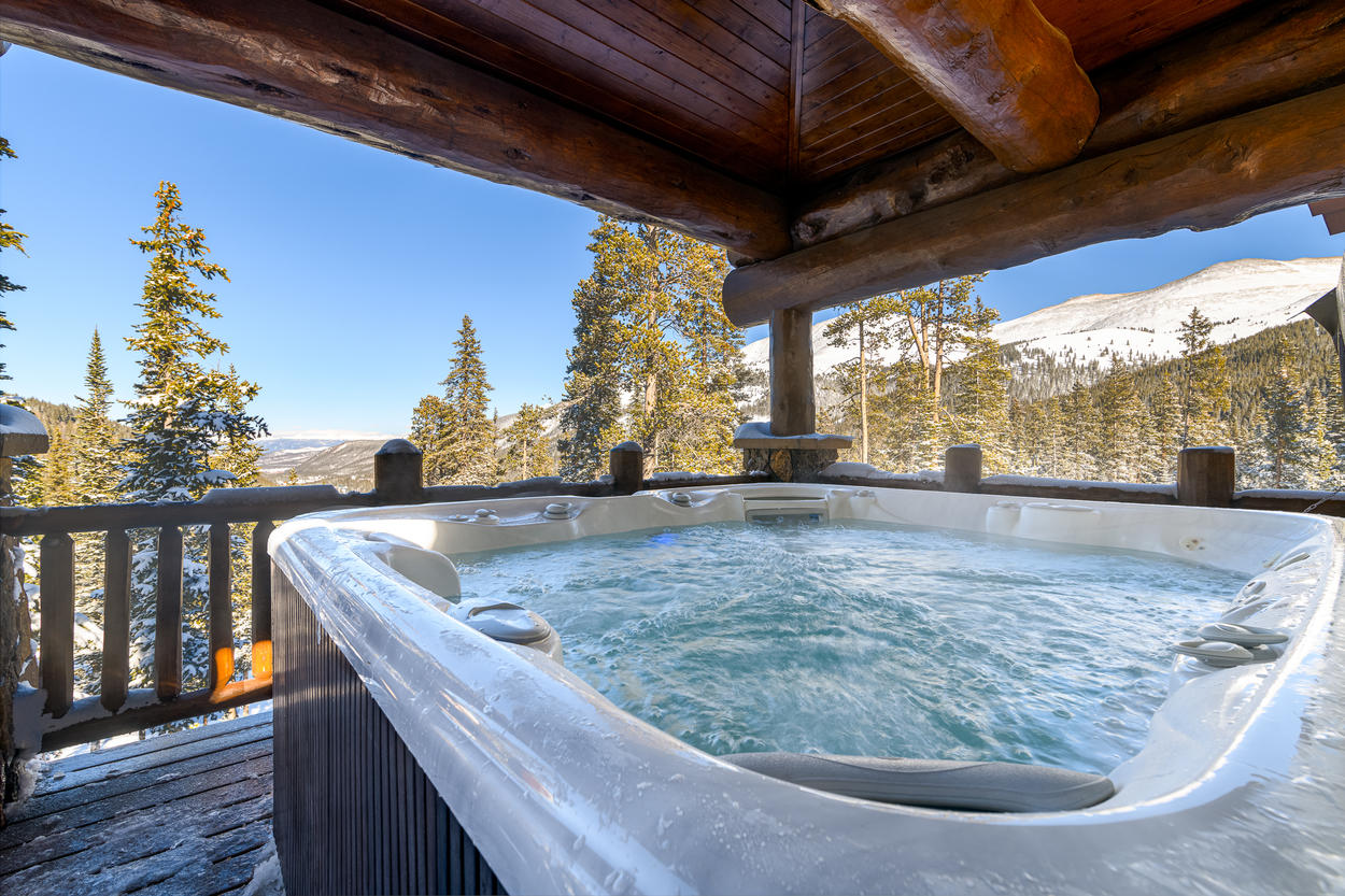 From the oversized private hot tub, enjoy some of the best views in the entire home.