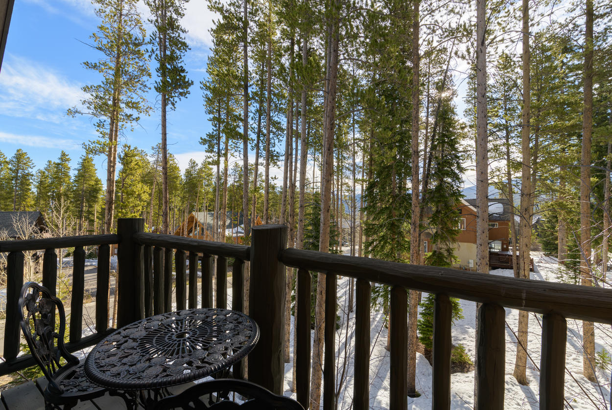 Relax on the shared balcony and take in the sights and sounds of Breckenridge.