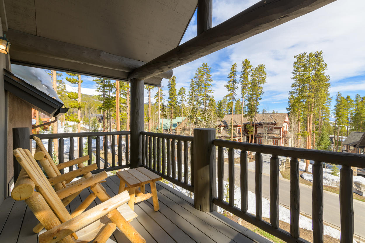 This covered deck is just outside Guest Bedroom 5.