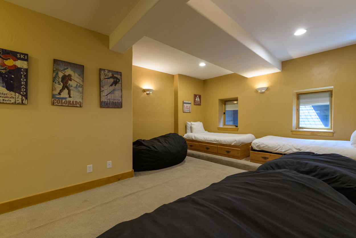 The lower level is great for additional families or to use as a kids sleeping area.