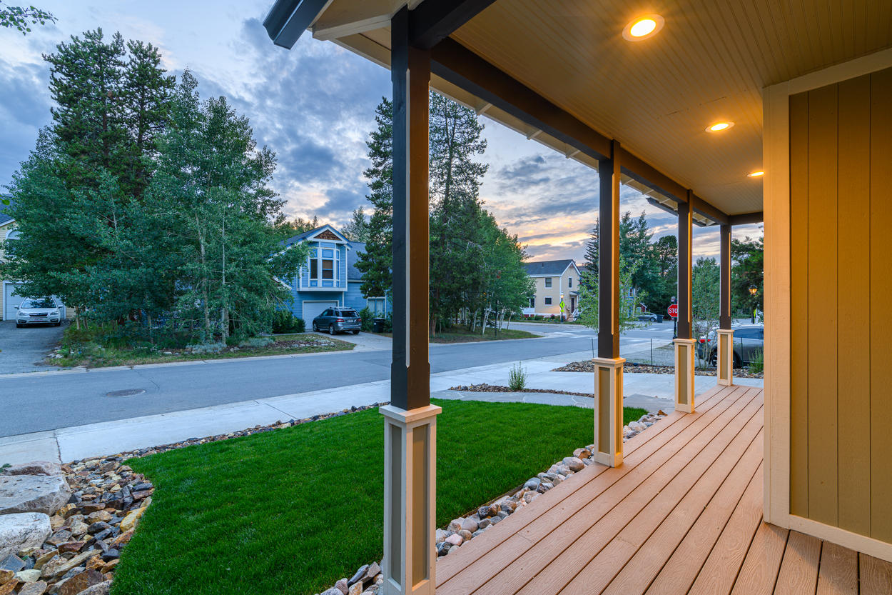 Relax outside on your quiet porch.