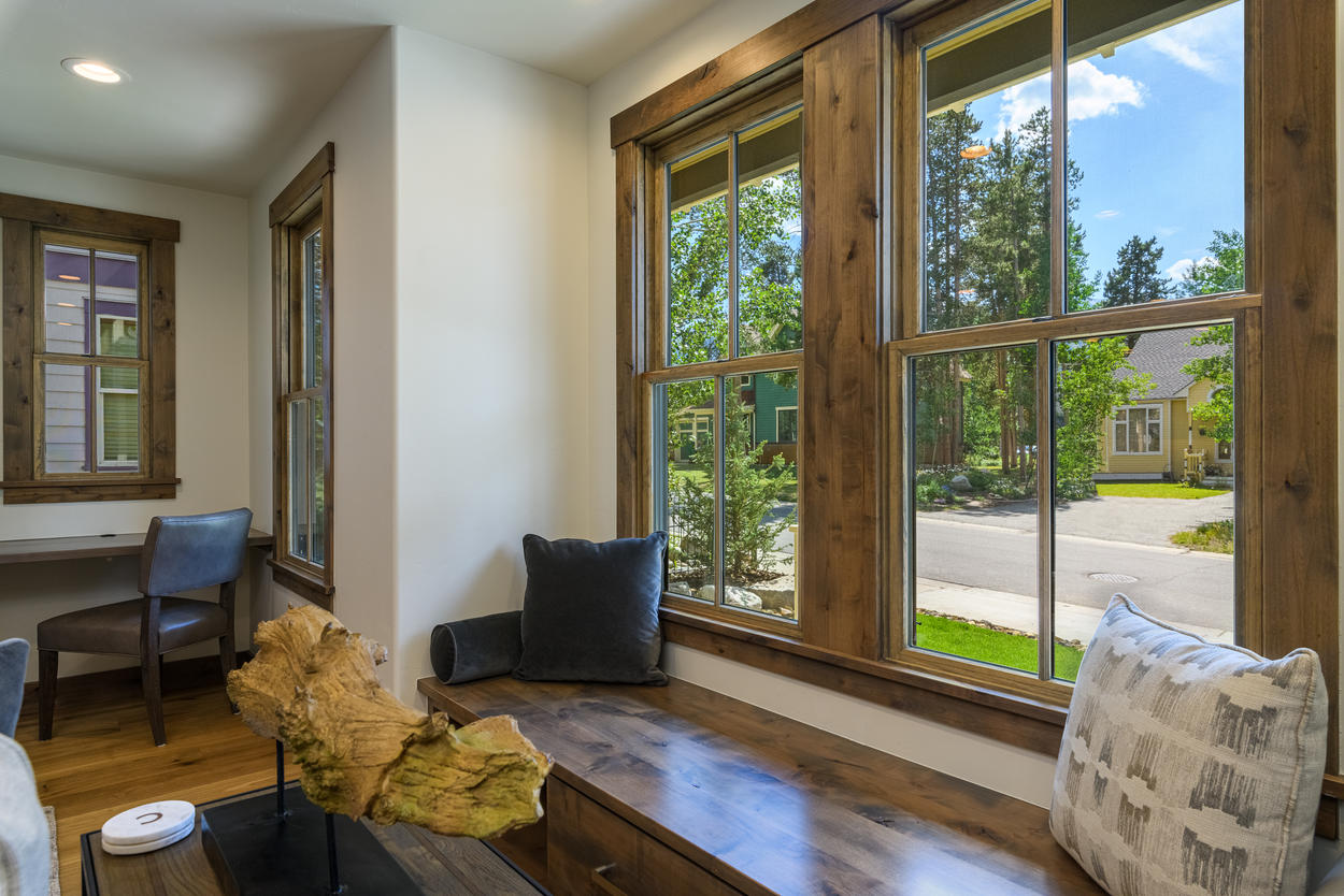 Enjoy the sights from your window seat in the living room.