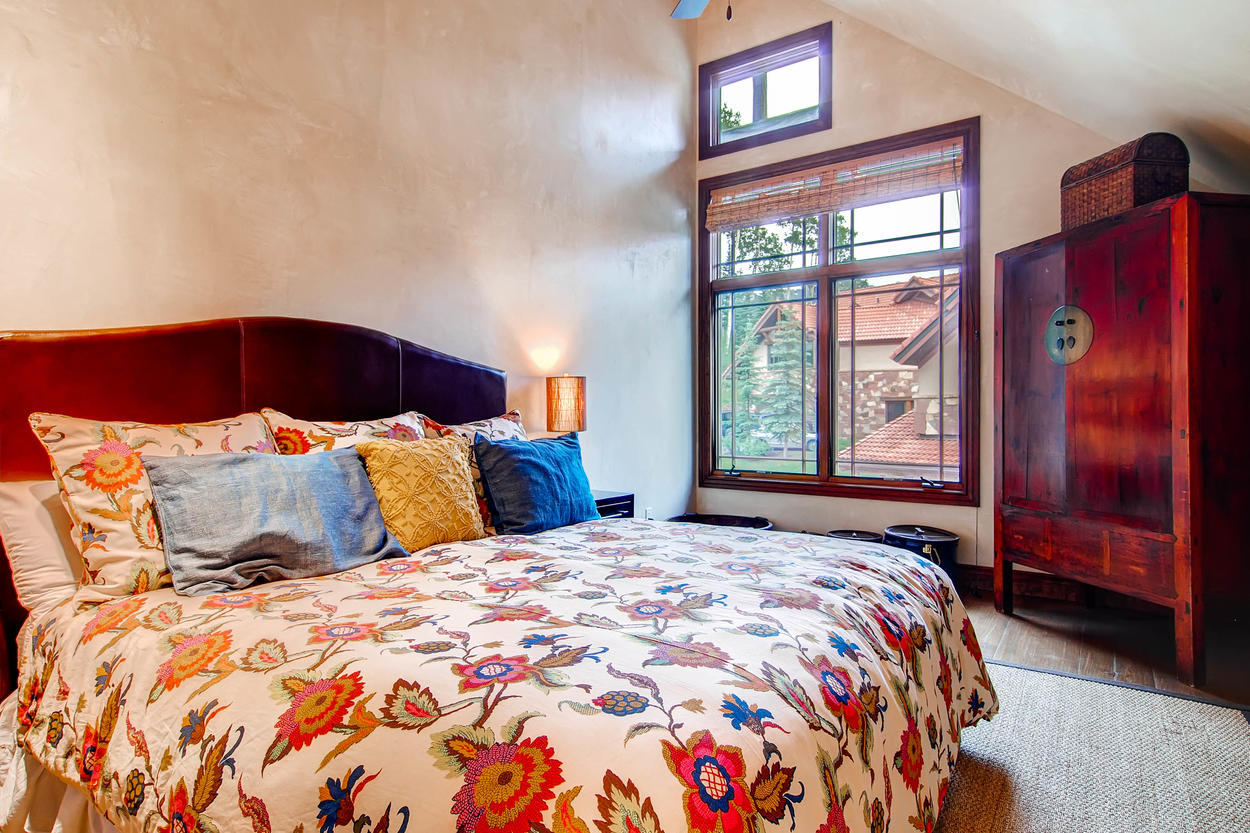 The spacious Guest Bedroom #2 has a king bed.