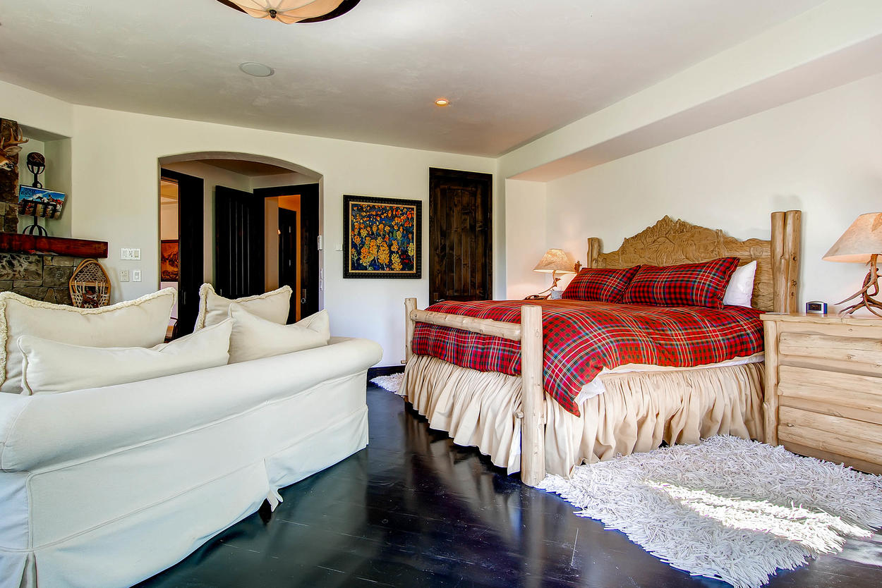 Feel like kings and queens in the massive Master Bedroom #1.
