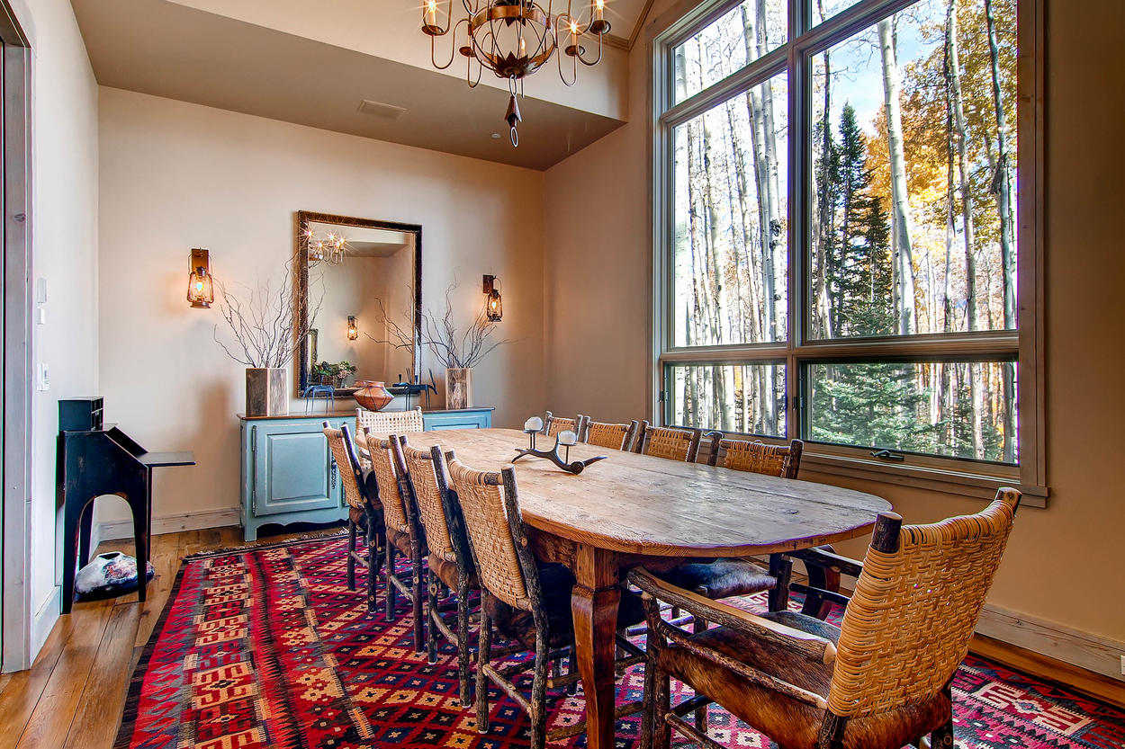 Enjoy that gourmet meal in the formal dining room, with seating for 10.