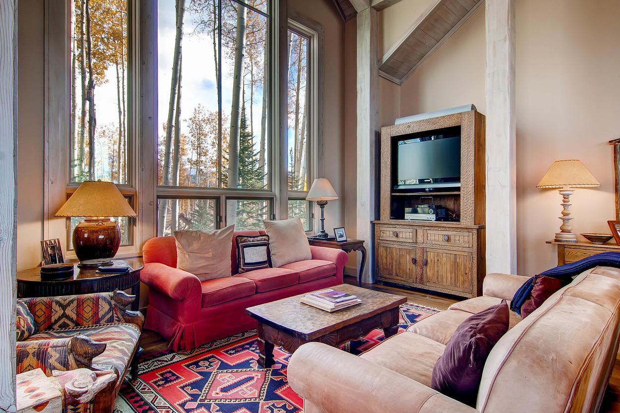 Plus a cozy little TV corner.