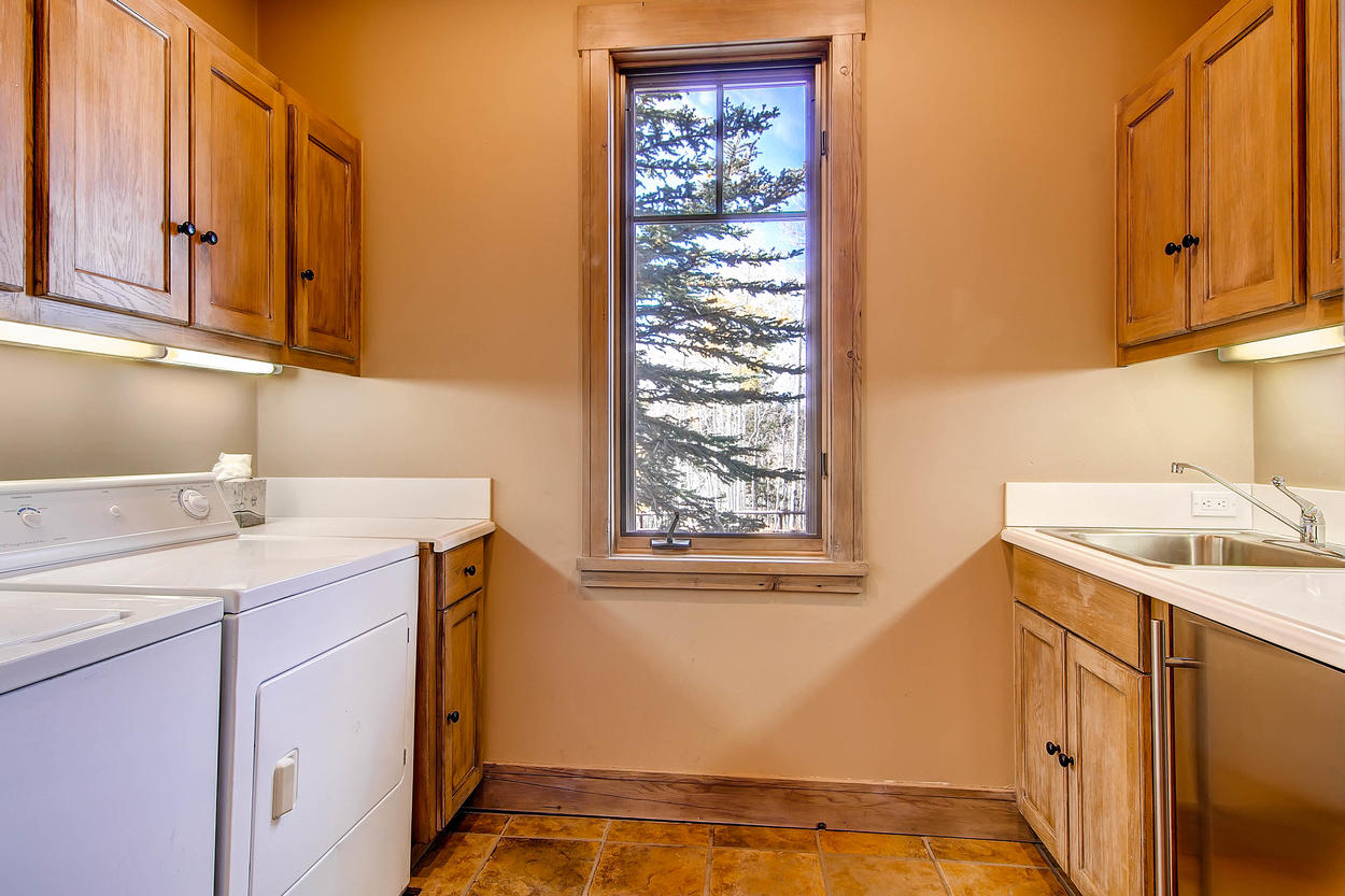 Didn't bring quite enough clothes? No worries, the laundry room has a washer and dryer, plus plenty of counter space for folding.