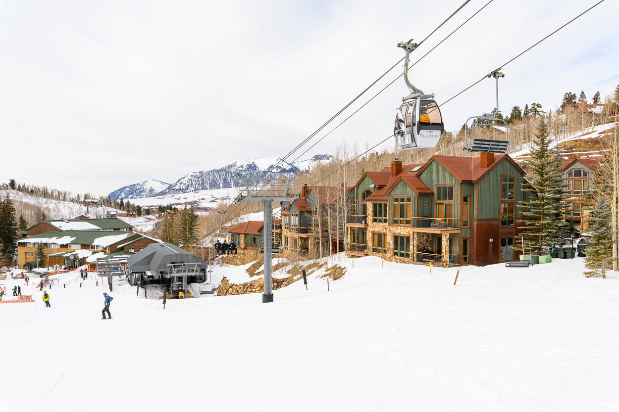 The Chondola lift will whisk you up to the Core area of Mountain Village