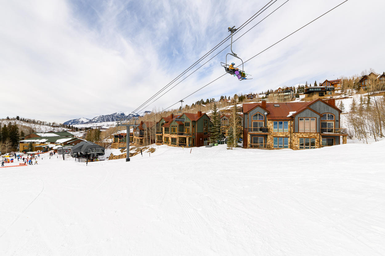 Meadow Grove at the Terraces offers a choice location with easy ski in/out access near the bottom of the Chondola