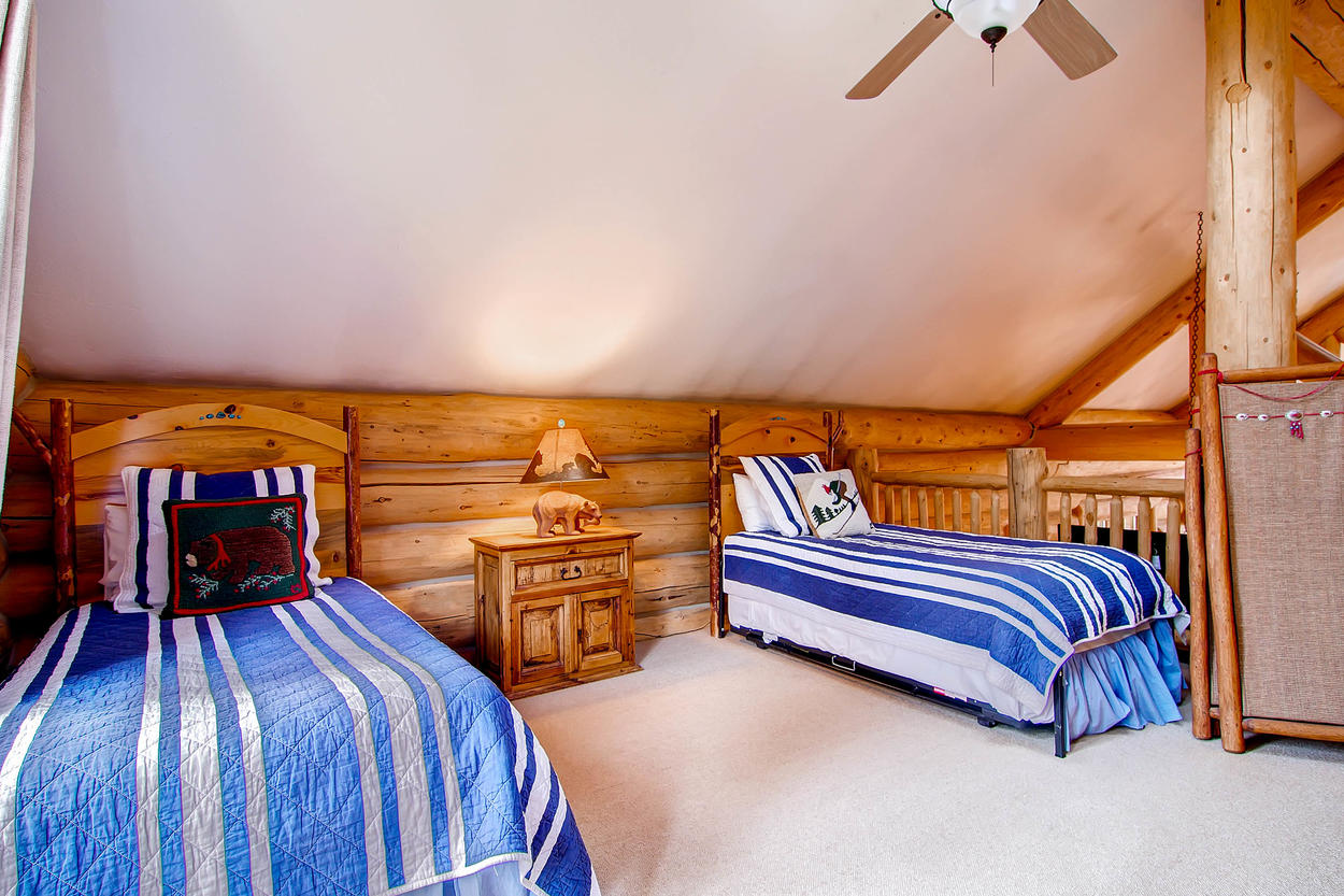 Kids will love all being together in the Loft Bedroom upstairs.
