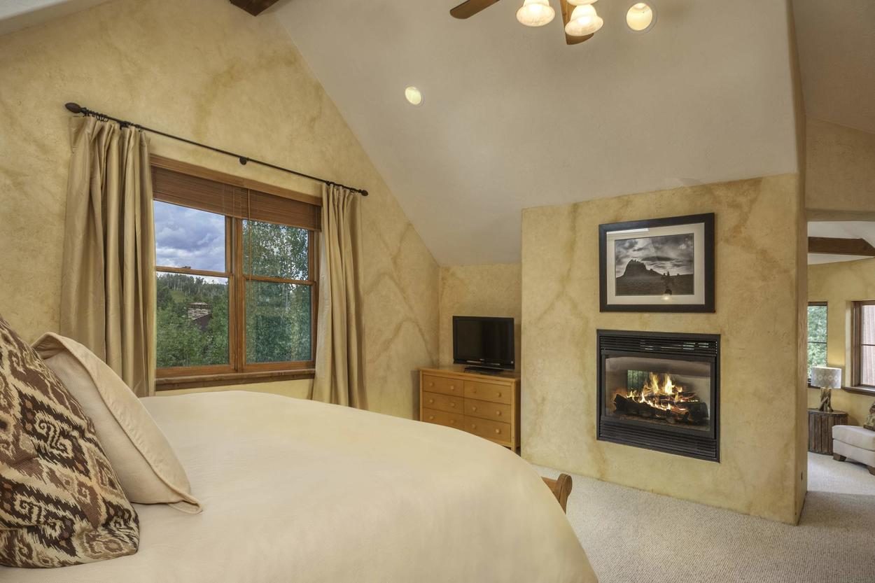Mom and Dad will love the privacy and space that the third floor Master Bedroom #1 offers - not to mention the gas fireplace, TV and attached sitting area.
