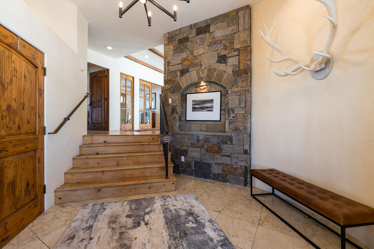 Grand Entrance to this modern mountain home