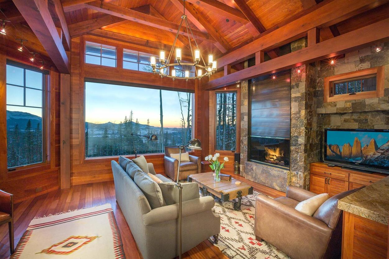 Grab a seat by the fireplace and warm up after a long day.