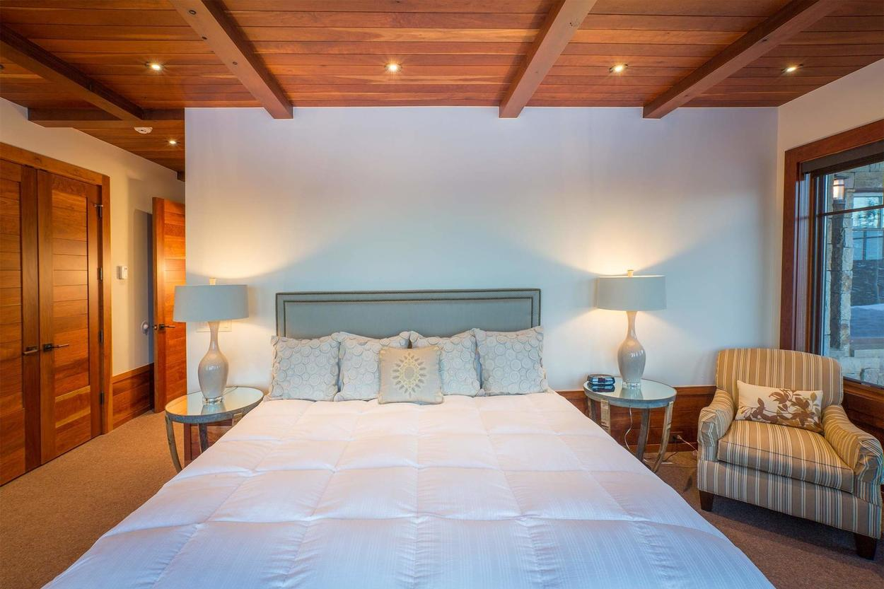 Guests never had it so good in Guest Bedroom 3, complete with king bed.