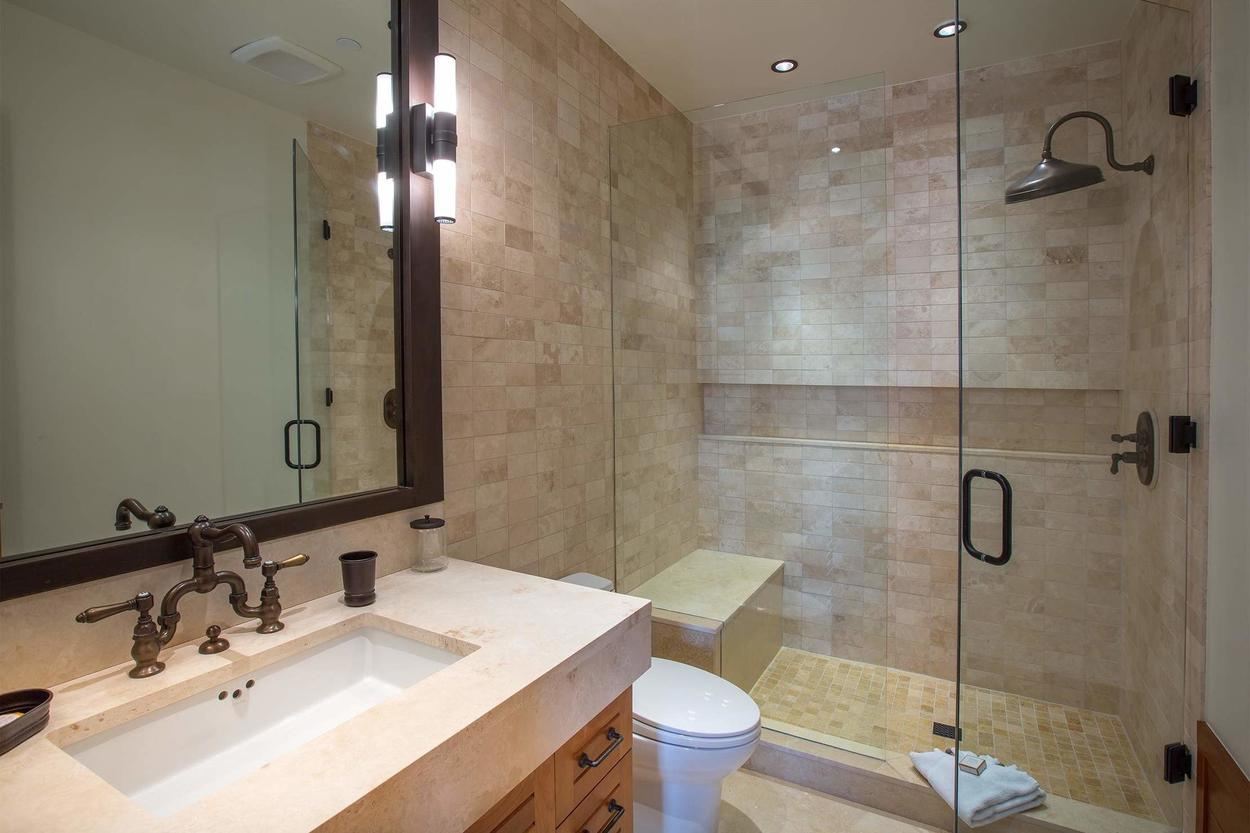 The en suite bathroom for Guest Bedroom 4, featuring a walk in shower.