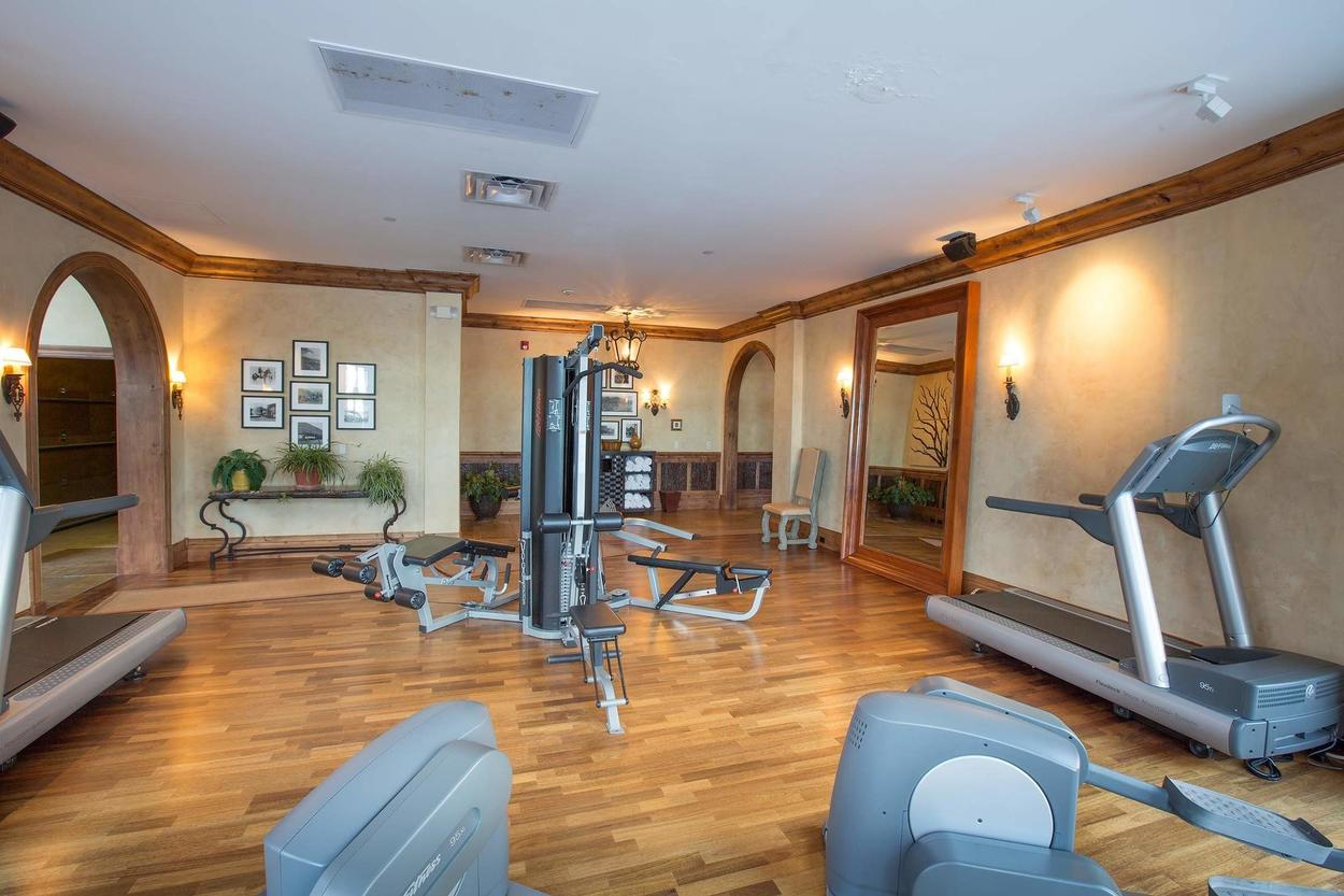 The community workout room is available for you - if skiing wasn't enough of a workout.