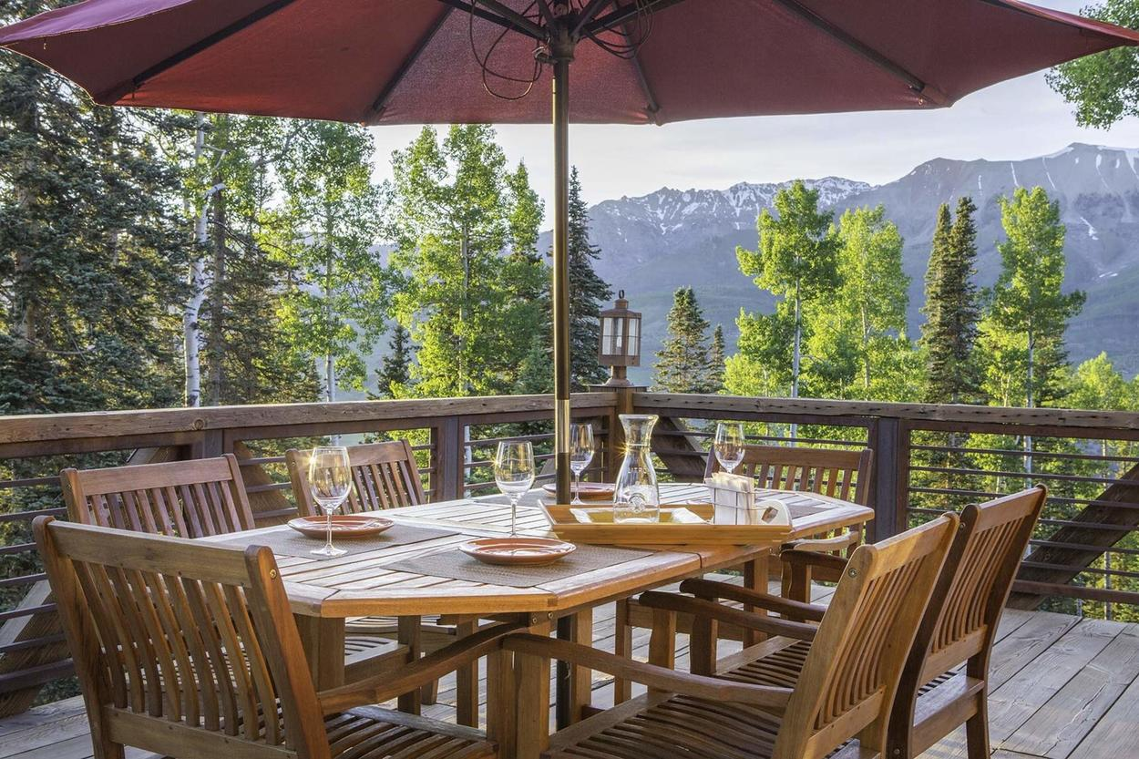 Enjoy a home cooked meal in paradise on your deck.