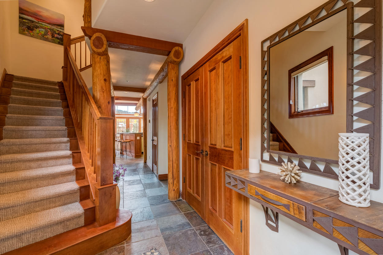 Now head upstairs to check out two of the master suites.