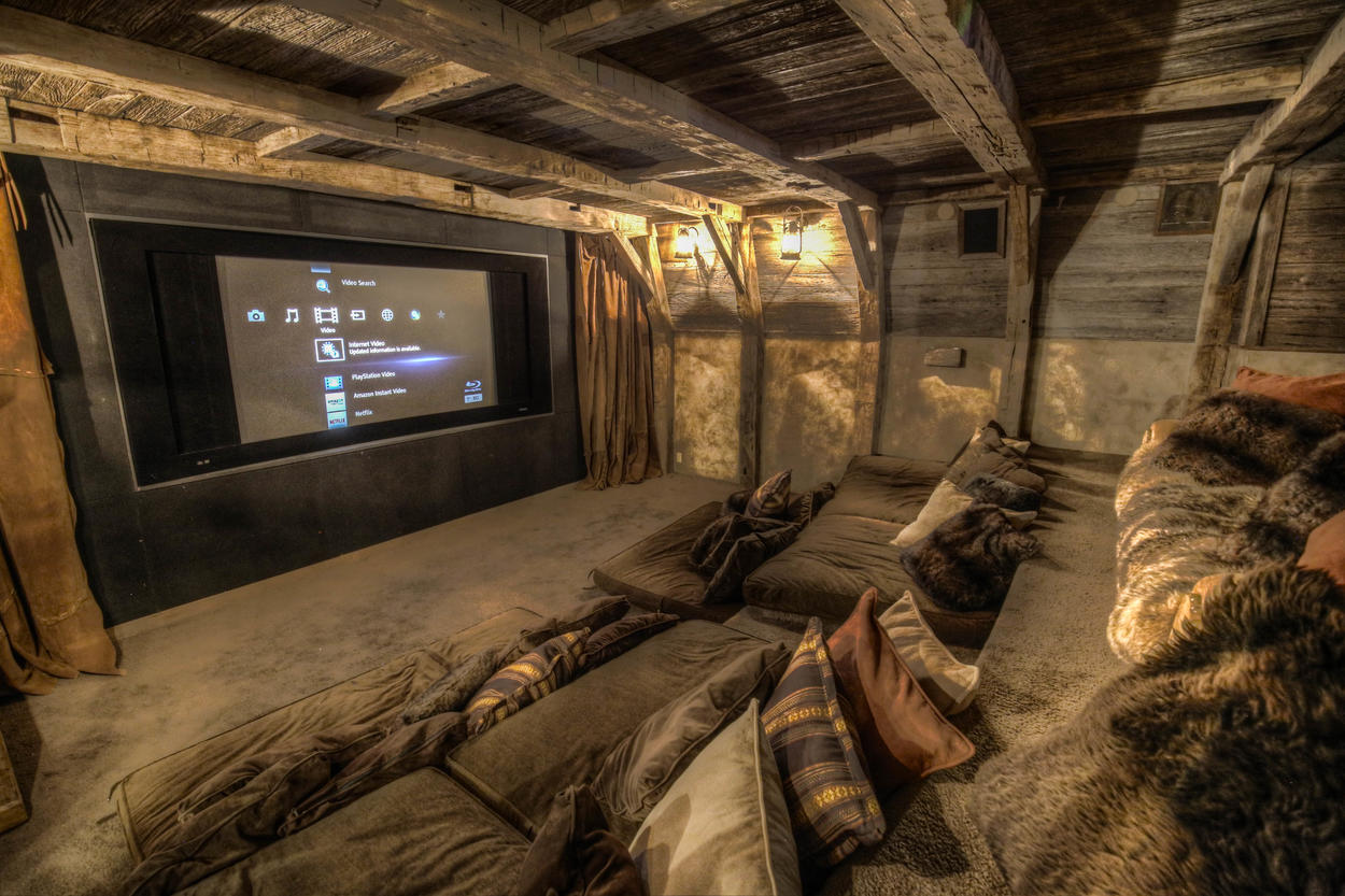 Take movie night to the next level in the in-home theater.