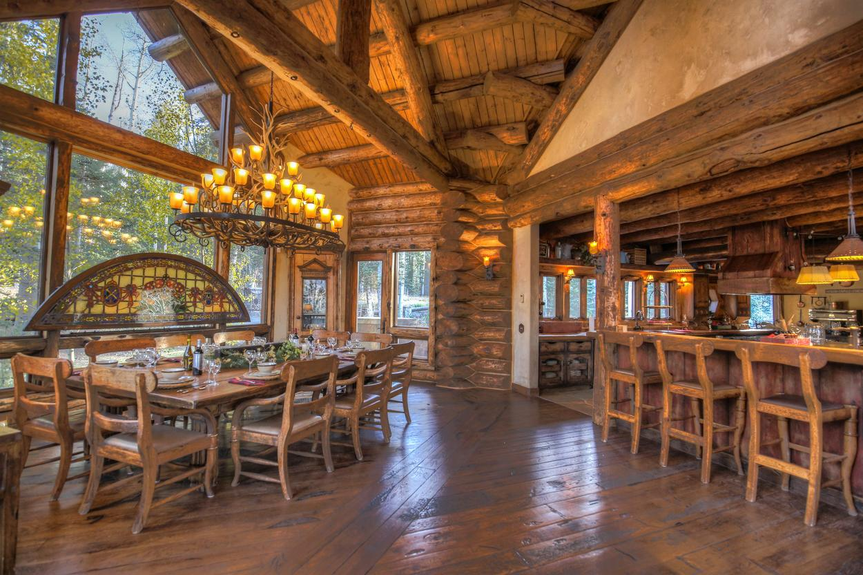 Take in the lofted ceiling and views while you enjoy your meal.