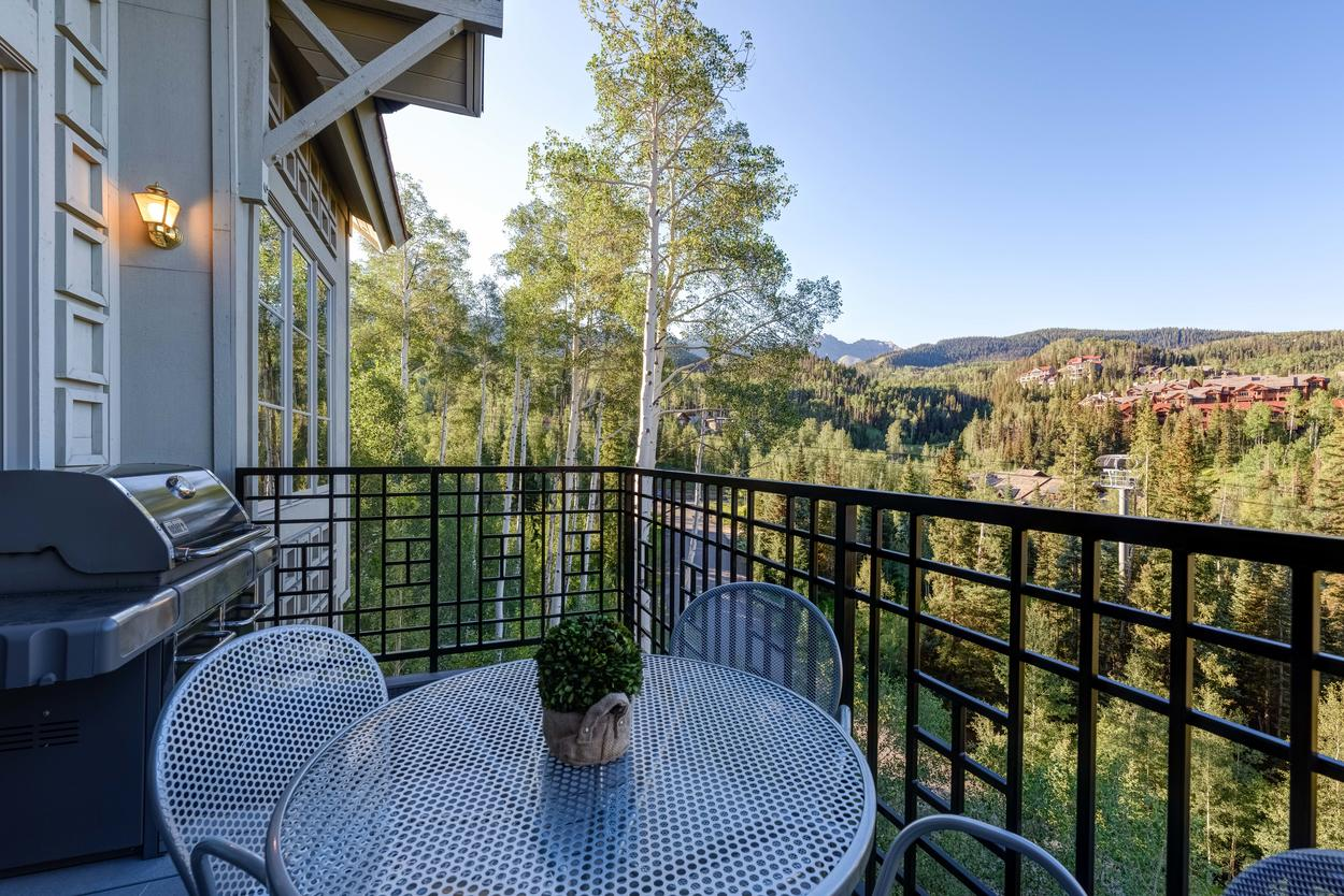 Enjoy a meal outside on your private balcony.