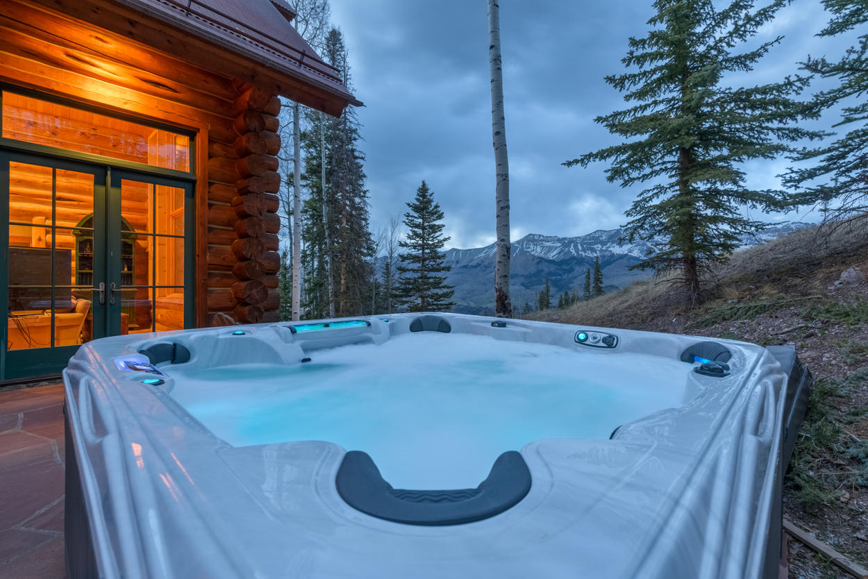 Warm up to these views from the private outdoor hot tub.