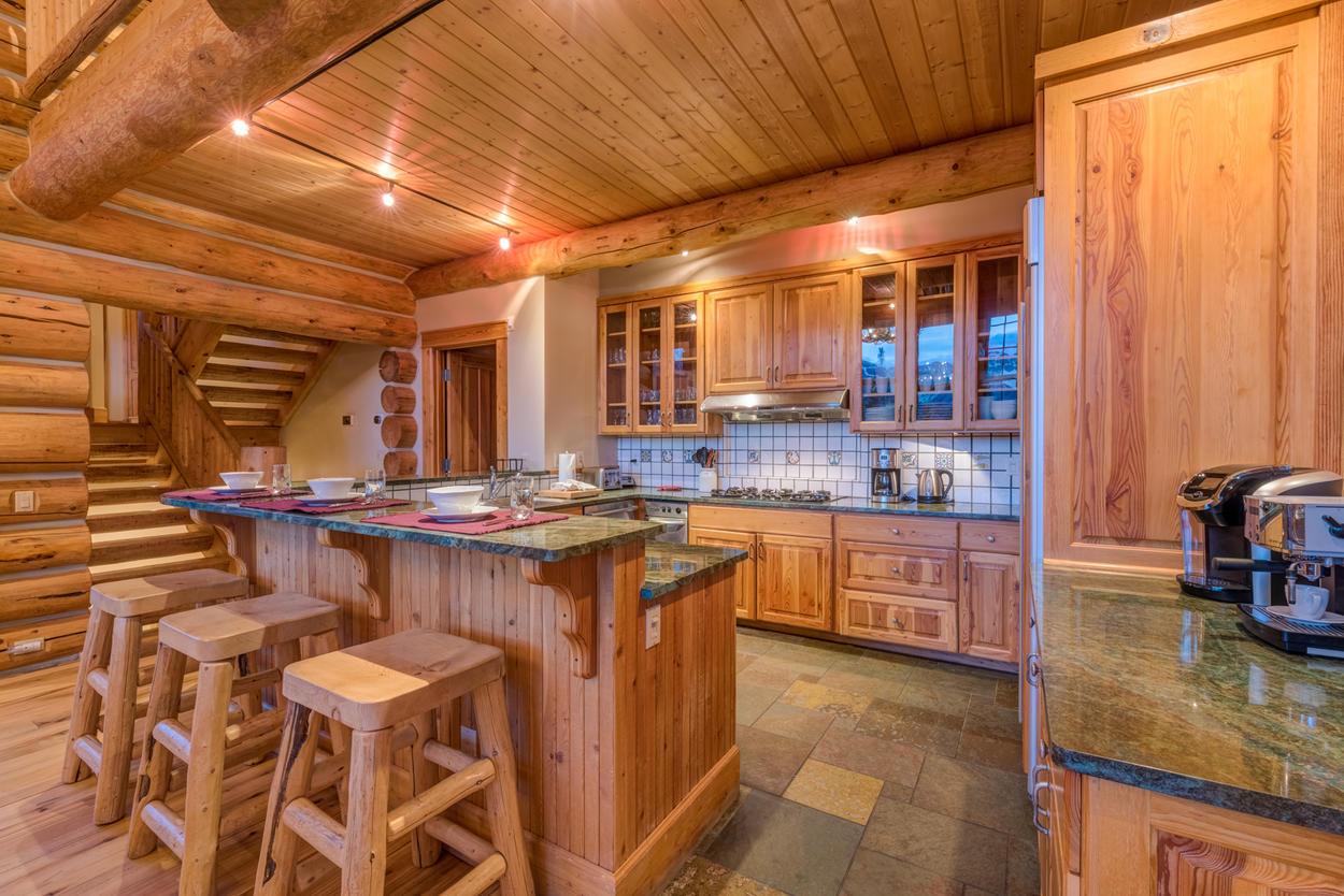 Ample counter space in the kitchen is available for all your cooking needs.