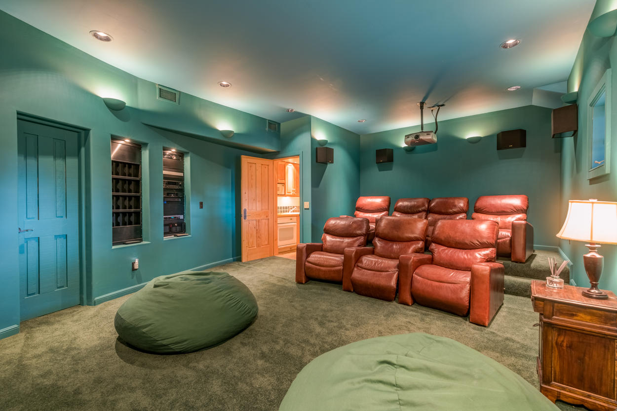 Live the life of luxury with your own private movie theater on the first floor.