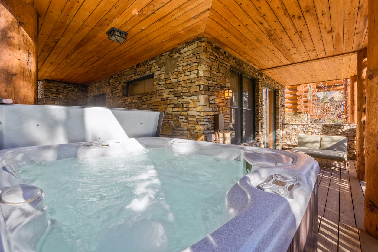 Enjoy a soak in your private hot tub, located just outside on the lower deck.