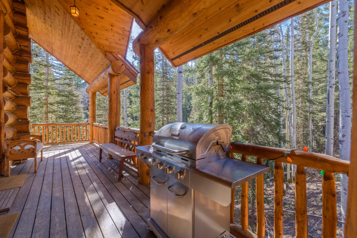 Enjoy grilling a meal out on the deck.
