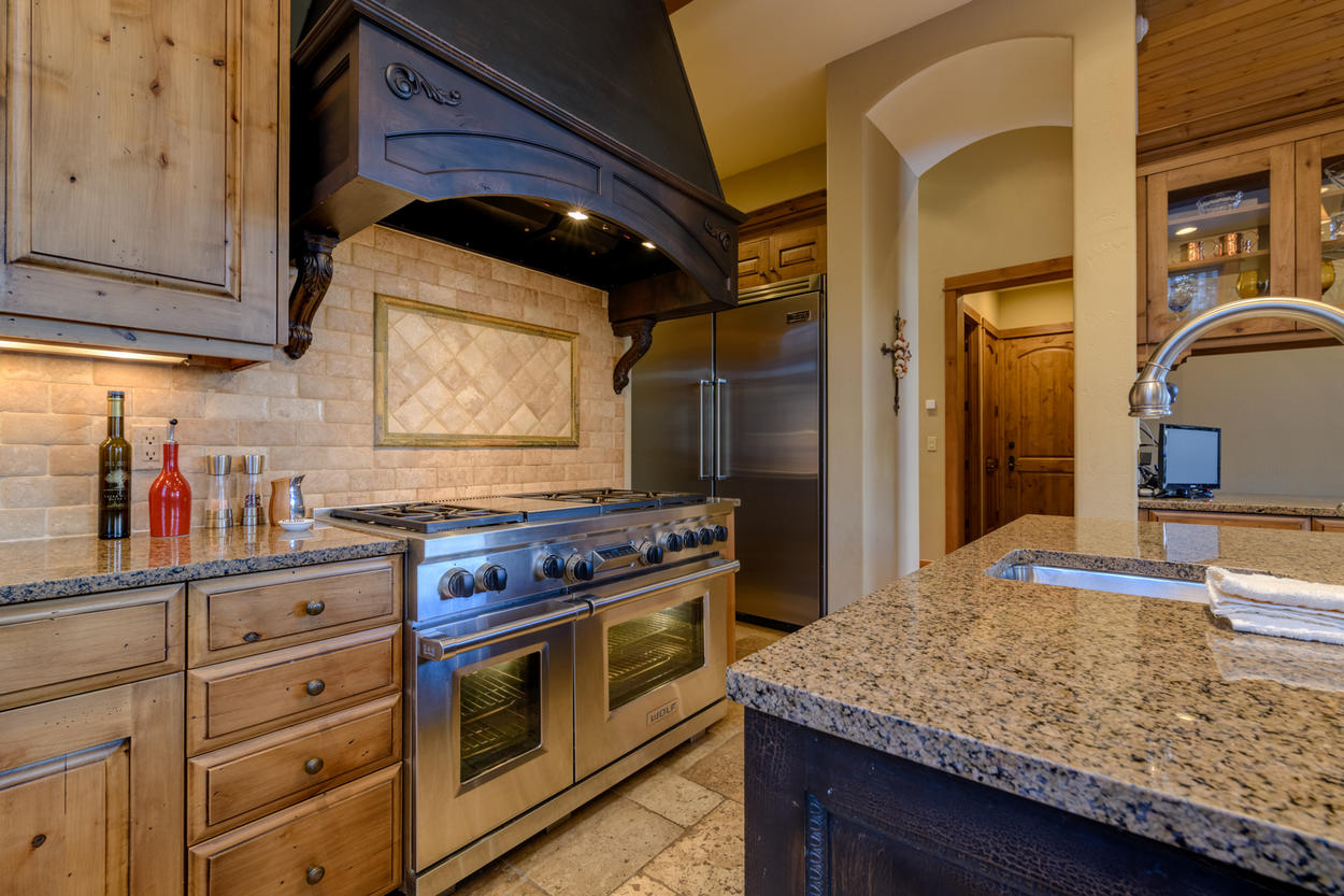 Cook dinner for the entire crowd on the six-burner gas stove