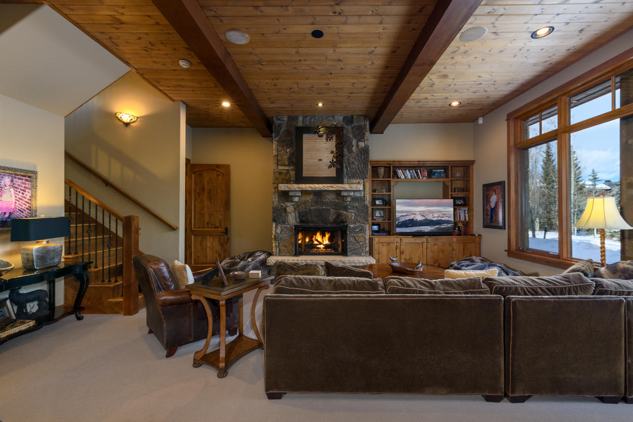 A nap on the sectional in the lower level Den might just be the perfect way to refresh after a holiday meal with family
