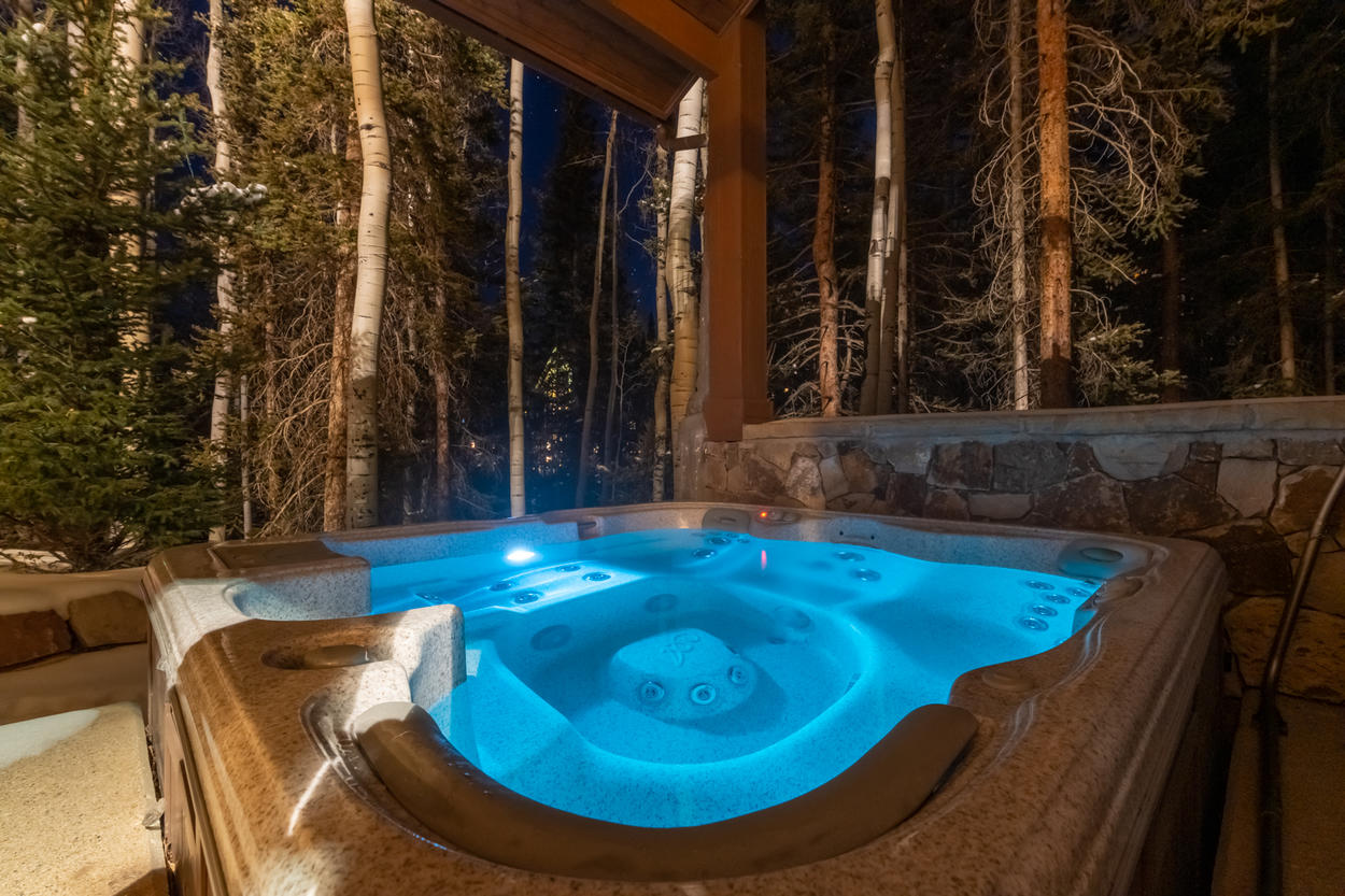 Rest your weary muscles after a day on the slopes in your private hot tub