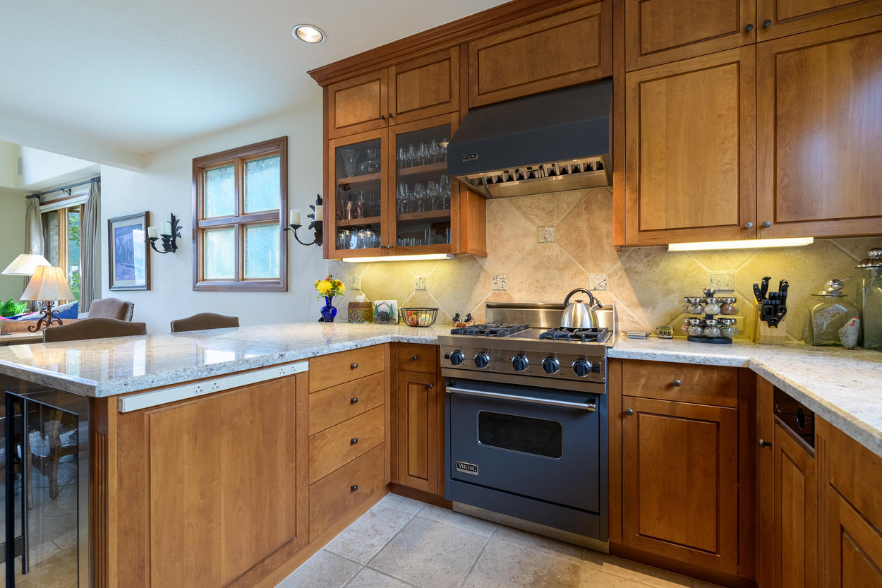 Cook up a delicious dinner in your spacious kitchen.