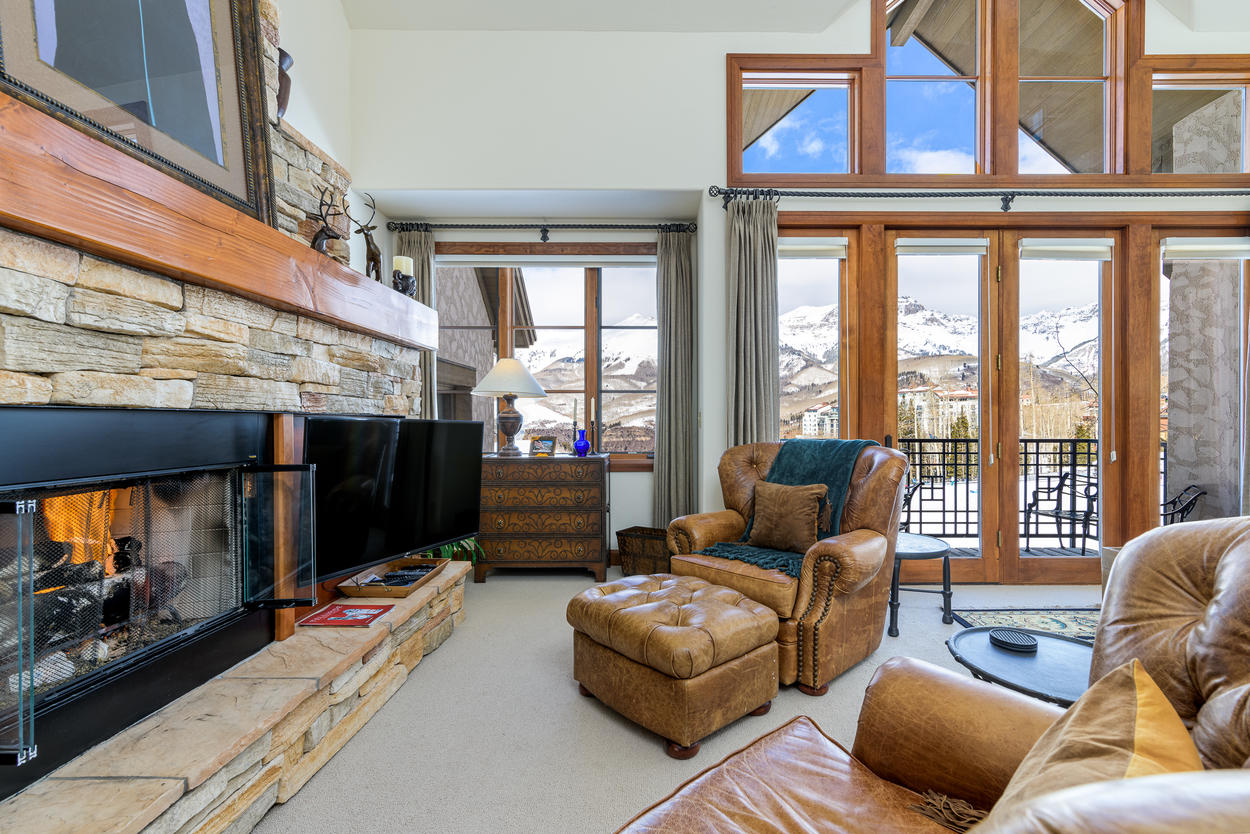 The large windows let in tons of natural light.