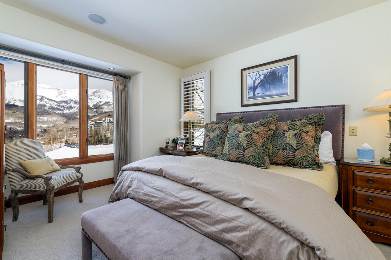 The Master Bedroom is located on the home's second floor.