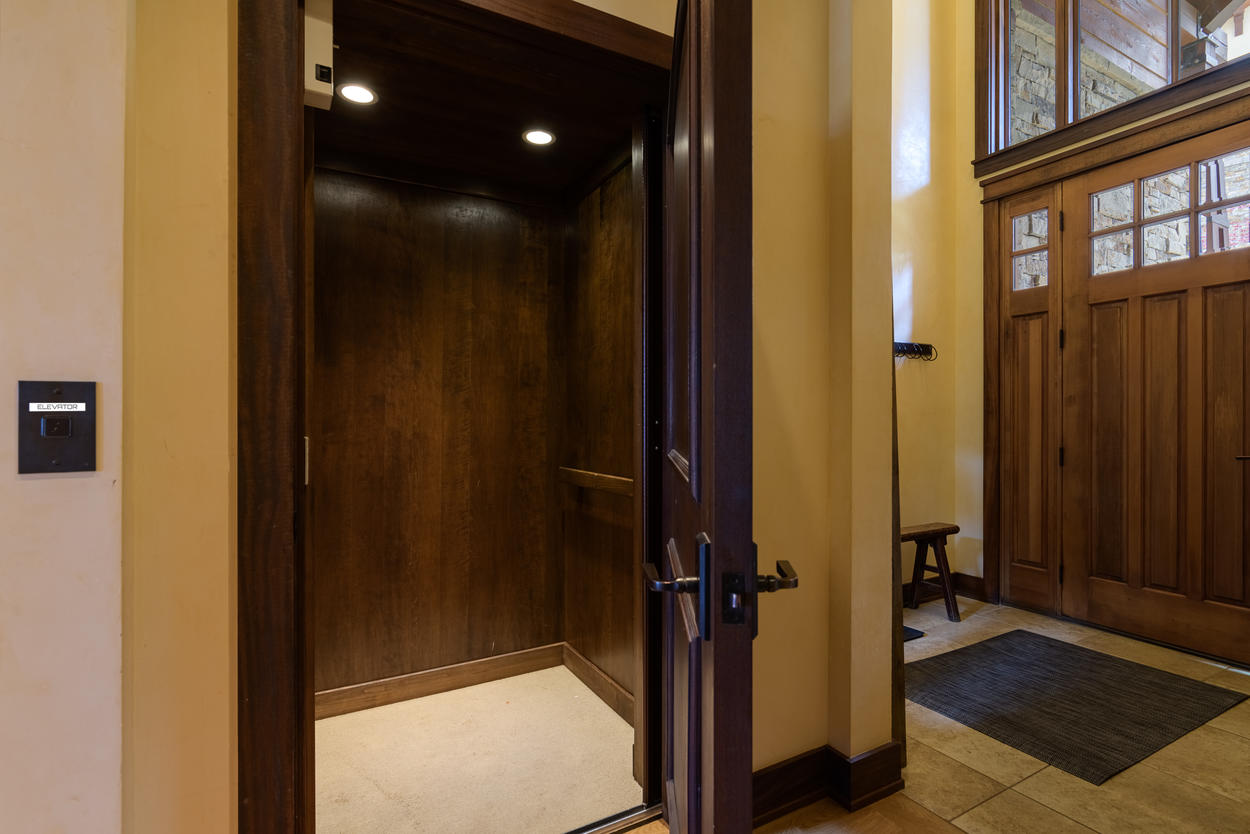 Use the home's private elevator to reach each floor.