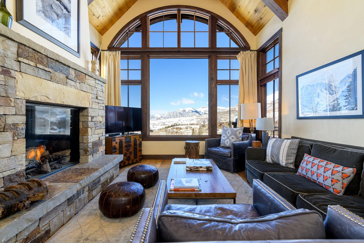From the main living area on the third floor, enjoy astounding views out to the valley.