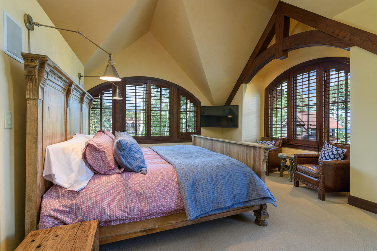 Windows surround the Master Bedroom, letting in loads of natural light.
